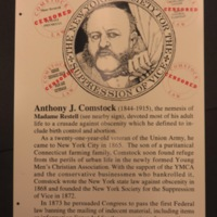 Sign 23.2- Madame Restell and Anthony Comstock, obverse side