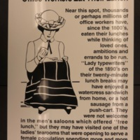 Sign 24- Office Workers Eat Their Lunch, obverse side