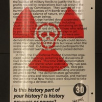 Sign 30- Civil Defense Drill Arrests in the 1950's, reverse side