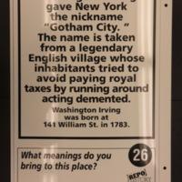 Sign 26- Gotham City, reverse side