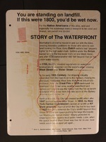 Sign 22- The Story of the Waterfront, obverse side