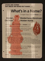 Sign 25- Maiden Lane: What's in a Name?, obverse side