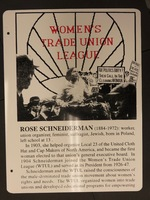 Sign 19- Rose Schneiderman: Union Activist, obverse side